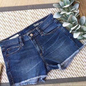 GAP Authentic Summer Short Raw Edge Jean Shorts